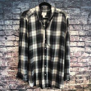 Caslon Tartan Plaid Soft Flannel Shirt